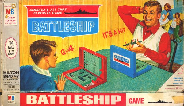 Cover of the Battleship game (1950s).